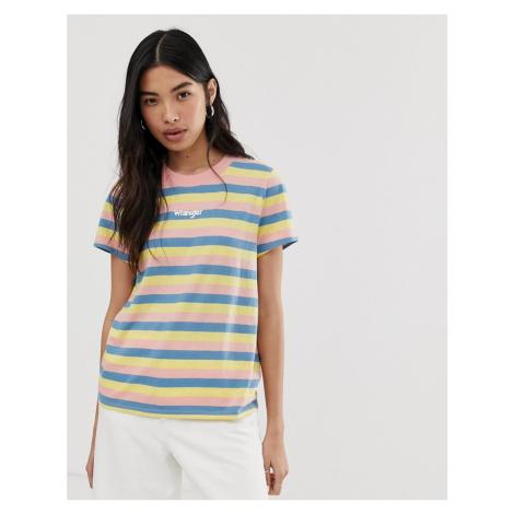 Wrangler vintage stripe logo t shirt