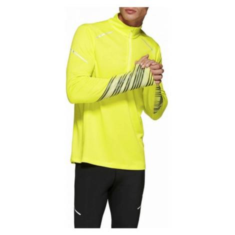Asics LITE-SHOW 2 LS 1/2 ZIP TOP żółty L - Koszulka do biegania męska