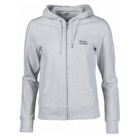 Russell Athletic ZIP THROUGH HOODY WITH SILVER PRINT - Bluza damska