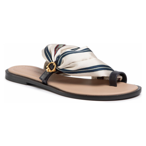 Japonki TORY BURCH - Selby Scarf Sandal 70503 Border Stripe/Perfect Navy 812