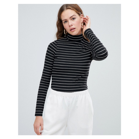 ASOS DESIGN turtle neck long sleeve body in stripe