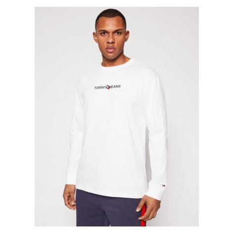 Tommy Jeans Longsleeve Tjm Vertical Logo DM0DM10241 Biały Regular Fit Tommy Hilfiger