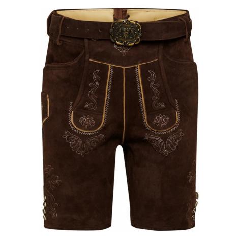 ALMSACH Spodnie ludowe ciemnobrązowy