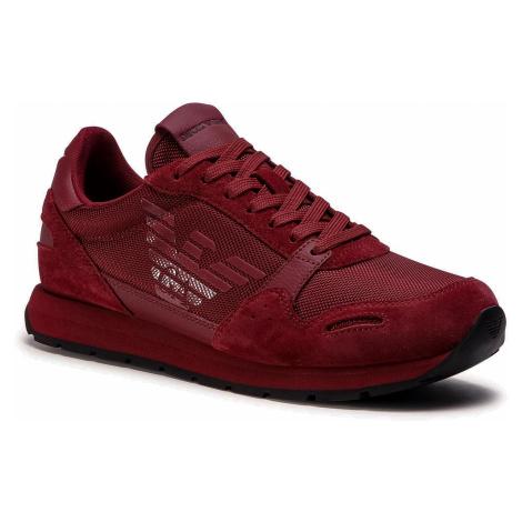 Sneakersy EMPORIO ARMANI - X4X215 XL198 N059 Ruby/Ruby/Ruby/Ruby