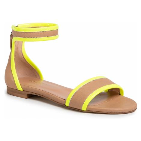 Sandały TWINSET - Sandalo 201TCP014 Bic.Desert/Gial 04827