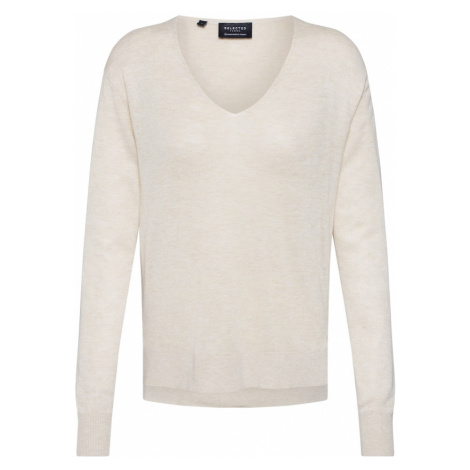 SELECTED FEMME Sweter 'SLFLINEL' beżowy