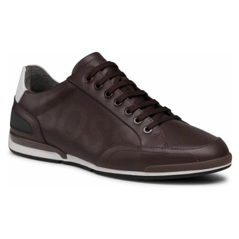 Sneakersy BOSS - Saturn 50452031 10231638 01 Dark Brown 201 Hugo Boss
