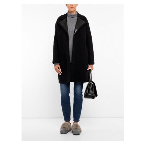 Marella Płaszcz wełniany 30160998 Czarny Regular Fit
