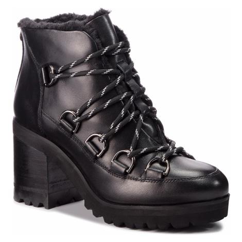 Botki STEVE MADDEN - Zana Biker Boot SM11000236-03001-017 Black Leather