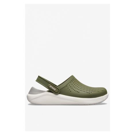 Klapki Crocs Literide Clog 204592-37P Army Green/white