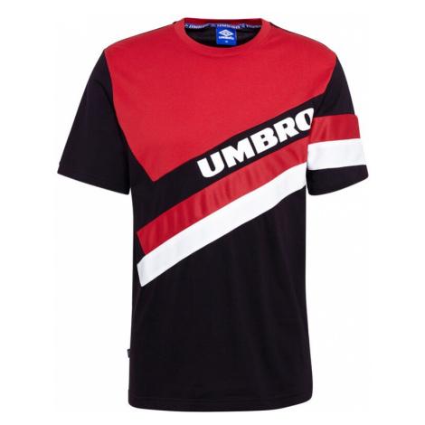 UMBRO Koszulka czerwony / czarny / biały