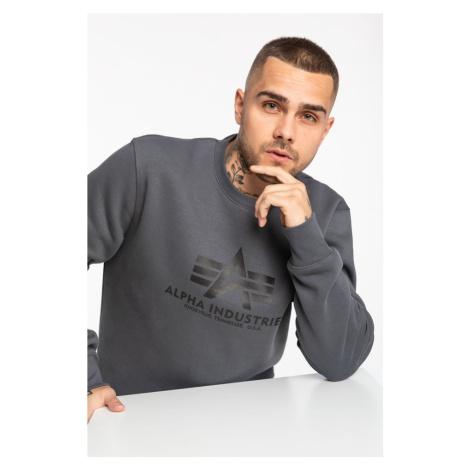 Bluza Alpha Industries Basic Sweater 178302-412 Greyblack/black