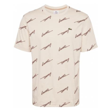 Lacoste LIVE Koszulka brązowy / kremowy