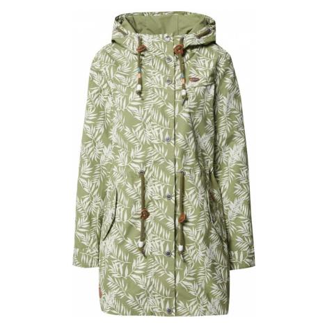 Ragwear Płaszcz przejściowy 'Canny Leaves W' zielony / biały