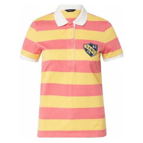 GANT Koszulka różowy / żółty