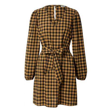 JACQUELINE de YONG Sukienka 'Rome' czarny / żółty
