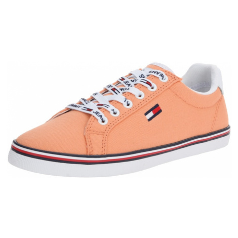Tommy Jeans Trampki niskie 'HAZEL 1D' pomarańczowy / biały Tommy Hilfiger