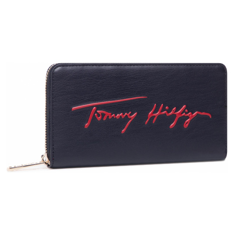 Duży Portfel Damski TOMMY JEANS - Iconic Tommy Lrg Za Signature AW0AW08655 CJM Tommy Hilfiger