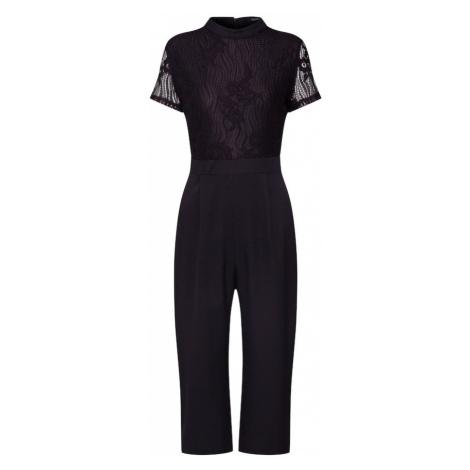 Boohoo Kombinezon 'High Neck Lace Cullotte Jumpsuit' czarny