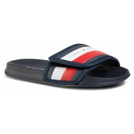 Klapki TOMMY HILFIGER - Maxi Velcro Pool Slide T3B0-30761-0739 S Blue 800