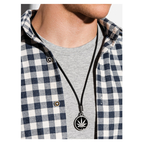 Ombre Clothing Men's necklace on the leather strap A350