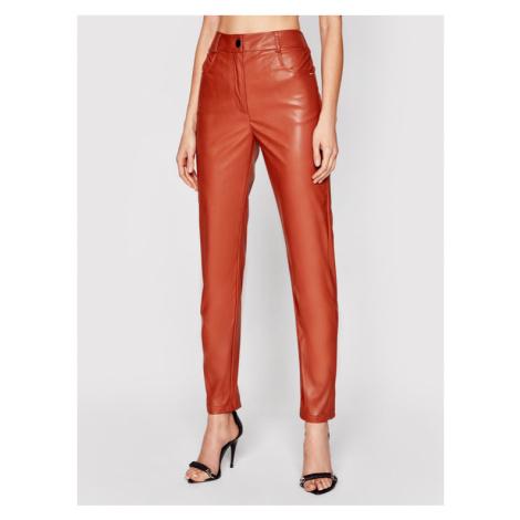 Silvian Heach Spodnie skórzane Steeval PGP21331PA Brązowy Slim Fit