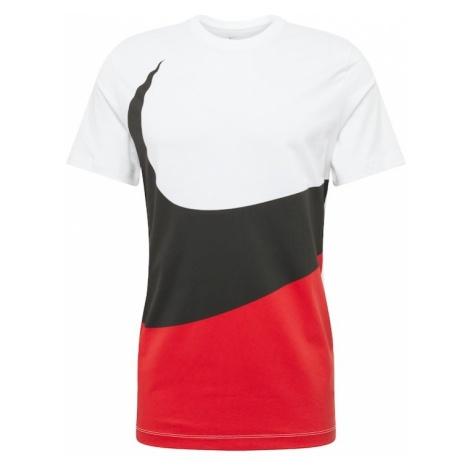 Nike Sportswear Koszulka 'SWOOSH 1' czerwony / czarny / biały