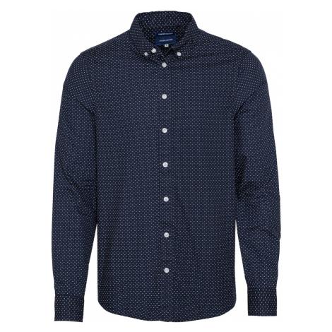 BLEND Koszula ciemny niebieski / biały