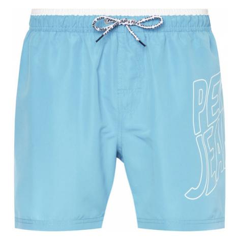 Pepe Jeans Szorty kąpielowe Fin PMB10243 Niebieski Regular Fit