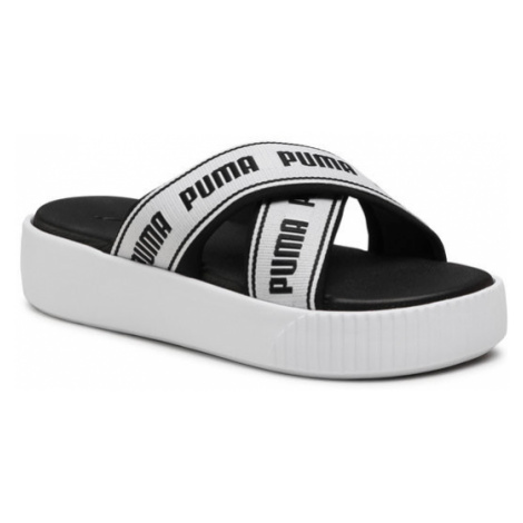 Puma Klapki Platform Slide Tape 380677 01 Biały