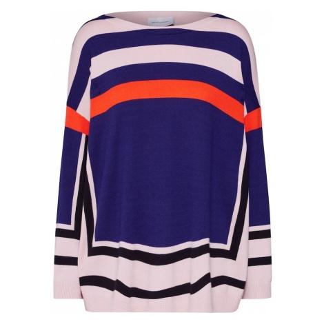 RENÉ LEZARD Sweter oversize 'P004S' niebieski / ciemnopomarańczowy