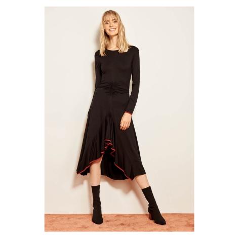 Trendyol Black Binding Detailed Knitted Dress