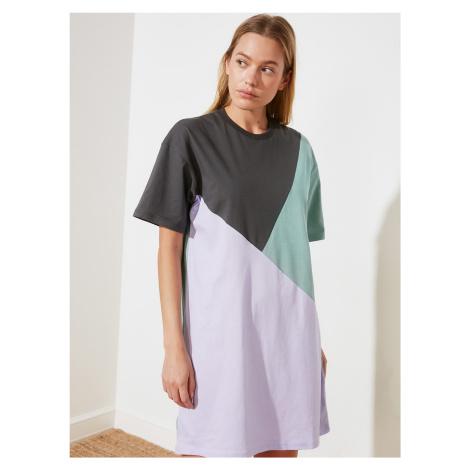 Trendyol szaro-fioletowa sukienka