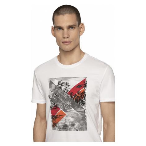 T-shirt 4F H4L19-TSM025A - 10S/White