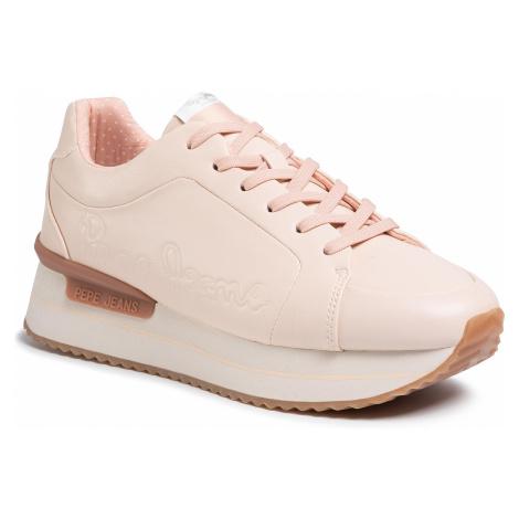 Sneakersy PEPE JEANS - Rusper Logo PLS30994 Pale Pink 300