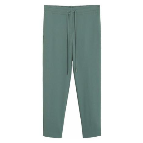 MANGO Spodnie zielony