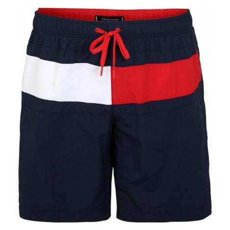 Tommy Hilfiger Underwear Szorty kąpielowe niebieska noc / czerwony / biały