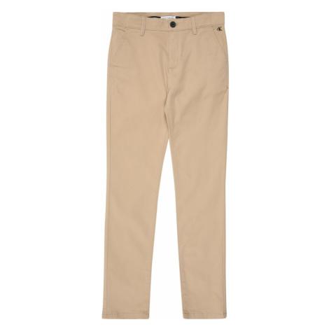 Calvin Klein Jeans Spodnie 'SKINNY CHINO PANT' beżowy