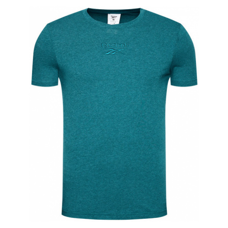 Reebok T-Shirt Melange FJ4665 Zielony Regular Fit