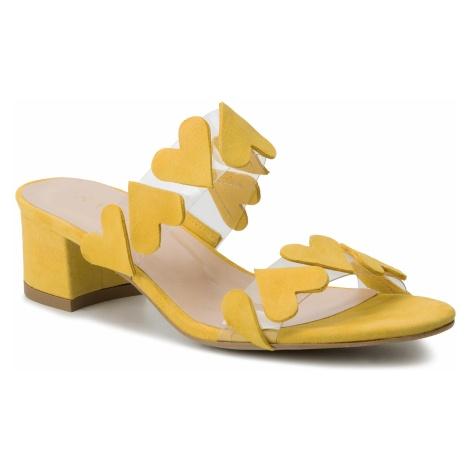 Klapki SAGAN - 3629 Żółty Welur