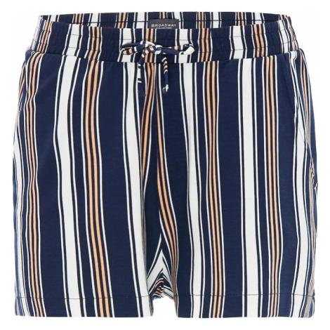 BROADWAY NYC FASHION Spodnie 'RISA' ciemny niebieski / mieszane kolory