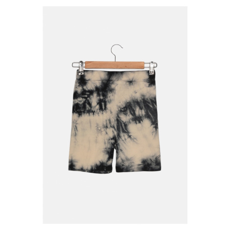 Trendyol Black Tie Dye Short Knit Tights