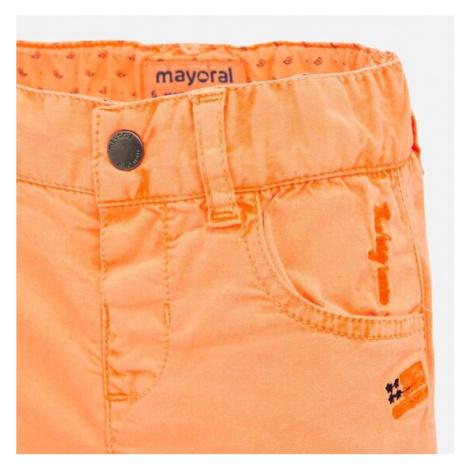 Mayoral Szorty materiałowe 1291 Pomarańczowy Regular Fit