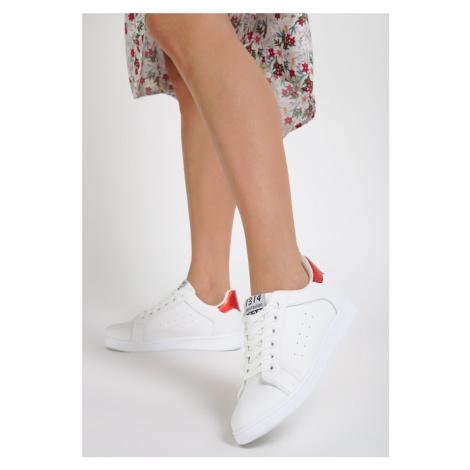 Biało-Czerwone Buty Sportowe Tune of Love