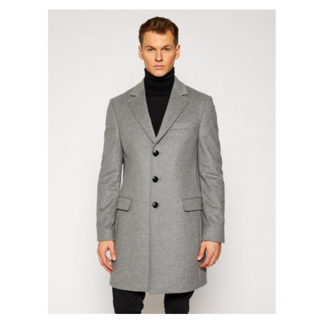 Tommy Hilfiger Tailored Płaszcz przejściowy Wool Blend TT0TT08117 Szary Regular Fit