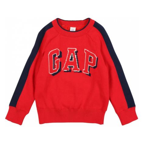 GAP Sweter czerwony / niebieska noc / biały