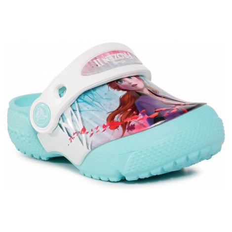 Klapki CROCS - Crocsfl Ol Disney Frozen2 Cg K 206167 Ice Blue