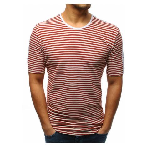 T-shirt męski z nadrukiem bordowy RX3194 DStreet