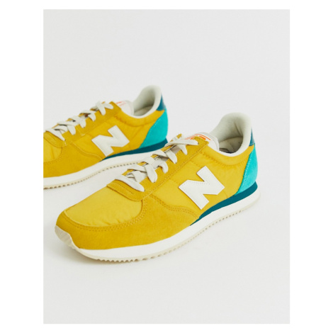 New Balance 220 trainers in yellow