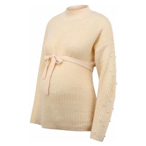 MAMALICIOUS Sweter beżowy Mama Licious